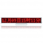 "Rechargeable 13.1"" 16 x 128 Red 2048-LED Wireless Desktop Display Board - Silver"