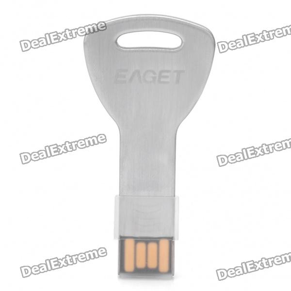 EAGET K3 Ultra-Thin Key Style USB 2.0 Flash Drive - Silver (16GB)