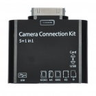 Camera Connection Kit + Card Reader with Extension Cable for iPad/iPod/iPhone - Black