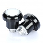 2-LED 2-Modes Bicycle Safety Tail Light - Black (2 x AG10)