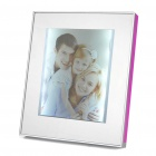 "USB Powered 6.5"" Magic Mirror Photo Frame w/ 10-LED - Silver + Purple"