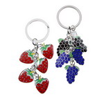 Strawberry and Grape Keychain for Couples (2-Piece Set)
