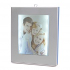 "USB Powered 6.5"" Magic Mirror Photo Frame w/ 10-LED - Silver + Blue"
