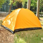 Folding 4-Person Camping Tent with Carrying Bag - Yellow