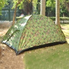 Folding 4-Person Camping Tent with Carrying Bag - Camouflage Green