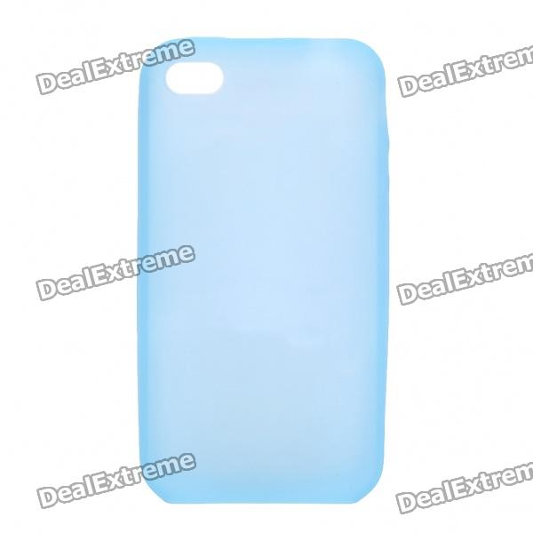 Protective Silicone Back Case for Iphone 4S - Light Blue