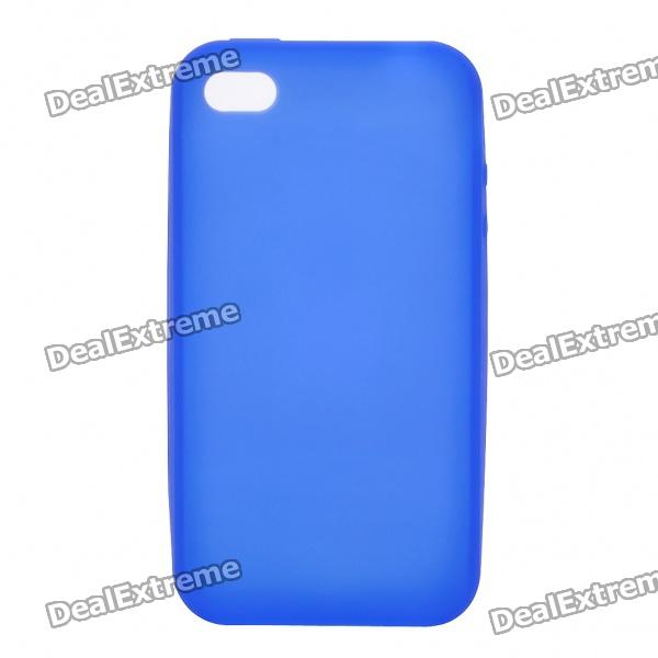 Protective Silicone Back Case for Iphone 4S - Deep Blue