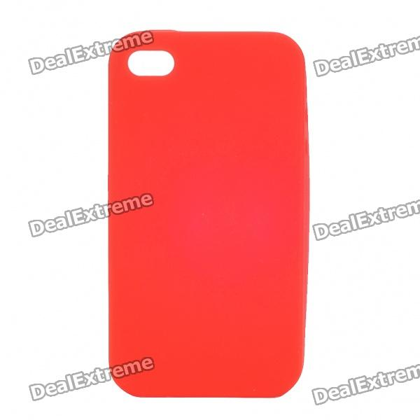Protective Silicone Back Case for Iphone 4S - Red protective plastic silicone back case for iphone 4 4s red
