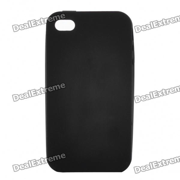 Protective Silicone Back Case for Iphone 4S - Black