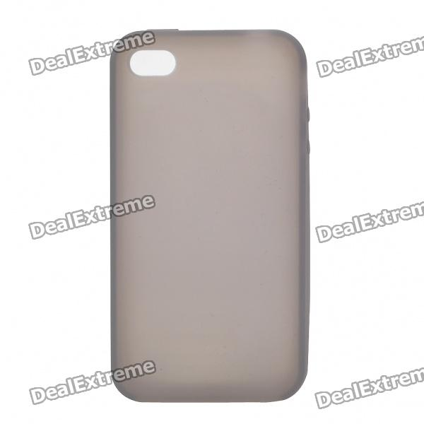 Protective Silicone Back Case for Iphone 4S - Grey