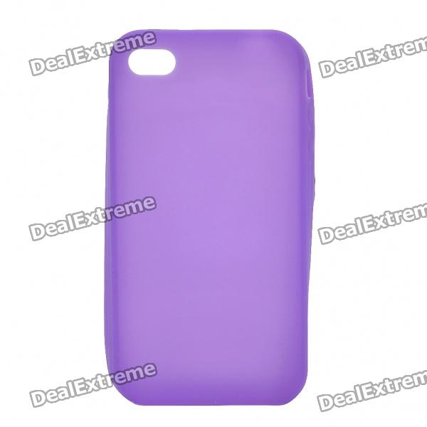 Protective Silicone Back Case for Iphone 4S - Purple