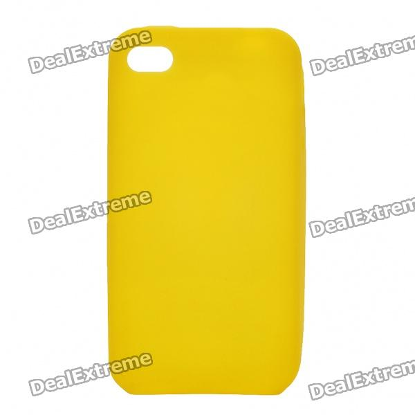 Protective Silicone Back Case for Iphone 4S - Yellow