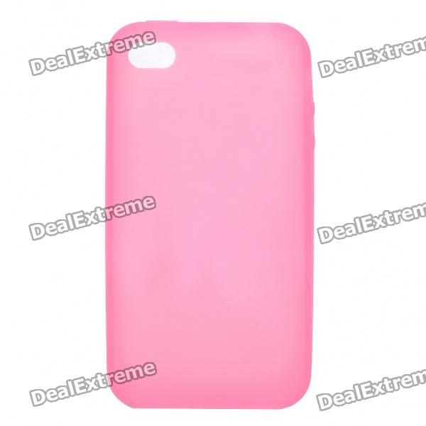 Protective Silicone Back Case for Iphone 4S - Pink