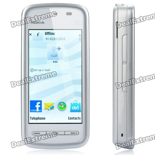 "Refurbished Nokia 5230 3,2 ""Touch Screen Symbian S60 v5 3G WCDMA Smartphone w / GPS + 2GB TF - Silver"