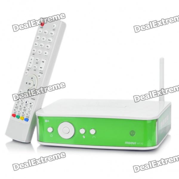 "W110 Full HD 1080P 3.5"" SATA HDD Network Media Player w/ WiFi / 2-USB / HDMI / LAN / Coaxial"