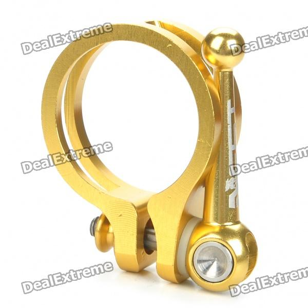 AEST 31.8mm Aluminum Alloy Bicycle Seat Post Clamp - Golden