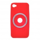 Camera Style Protective Silicon Case for Iphone 4/ 4S - Red