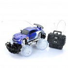 1:18 4-CH 27MHz R/C Racing Car w/ Lighting Effect - Blue (3 x AA / 2 x AA)