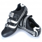 Stylish Bike Cycling Carbon Fiber Practical Shoes - Silver + Black (EUR Size-38)