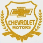 Cool Glow-in-the-Dark Chevrolet Logo Pattern Car Sticker - Golden