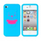 Protective Silicon Case for iPhone 4 - Blue