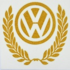 Cool Glow-in-the-Dark Volkswagen Logo Pattern Car Sticker - Golden