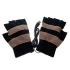 USB Powered Hand Warmer / Gloves (Black)