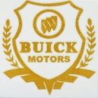 Cool Glow-in-the-Dark Buick Logo Pattern Car Sticker - Golden