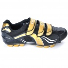 Stylish Mountain MTB Bike Cycling Carbon Fiber Practical Shoes - Golden + Black (EUR Size-43)