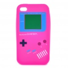 Gamepad Style Protective Silicon Case for iPhone 4/ 4S - Deep Pink