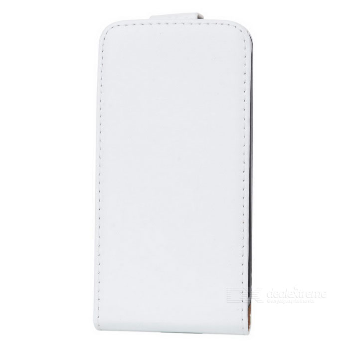 Real Leather Protective Case for Iphone 4/4S - White