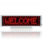 "Rechargeable 6.8"" LCD 16 x 64 Red 1024-LED Wireless Desktop Display Board"
