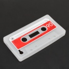 Tape Style Protective Silicon Case for Iphone 4/ 4S - Red + White