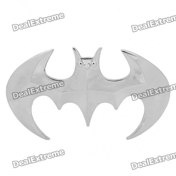 Cool 3D Bat Stil Auto Dekoration Sticker - Silber