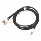 Designer's 3.5mm Male to 2 x RCA Male Audio Cable (222.5cm-Length)