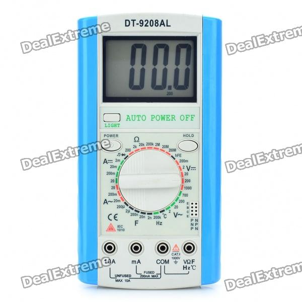DT-9208AL 3.0 LCD Digital Multimeter (1 x 6F22/9V Battery) мультиварка polaris pmc0507d pmc0507d черный