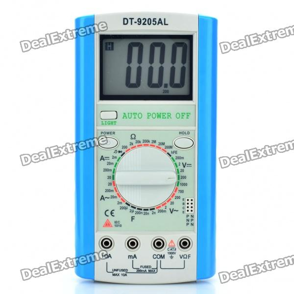 DT-9205AL 3.0 LCD Digital Multimeter (1 x 6F22/9V Battery) dt 830b 1 8 lcd digital multimeter 1 x 6f22 9v battery