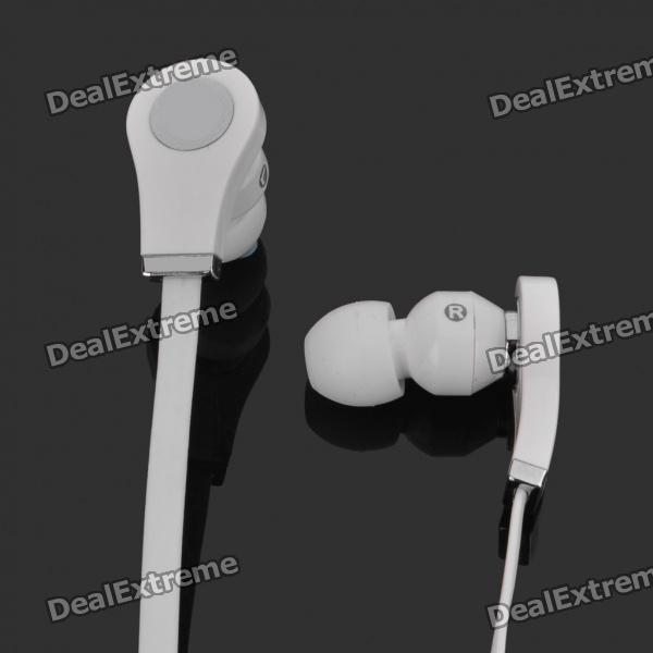 Designer's Fashion In-Ear Stereo Earphone - White (3.5mm Jack / 120cm-Cable)