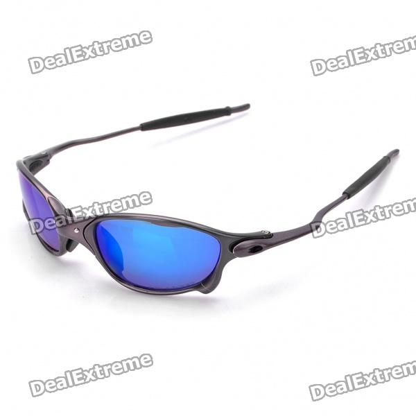 Sports UV 400 Protection Aluminum Alloy Frame PC Lens Sunglasses - Grey