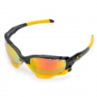 Outdoor Sports Cycling UV 400 Protection TR-90 Frame PC Lens Sunglasses w/ Replacement Lens Set