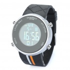 "EYKI Water Resistant 1.0"" LCD Digital Wrist Watch - Black (1 x LR626)"