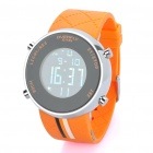 "EYKI Water Resistant 1.0"" LCD Digital Wrist Watch - Black + Orange (1 x LR626)"