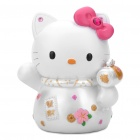 Nette Resin Fortune-Kitty - Pink + White