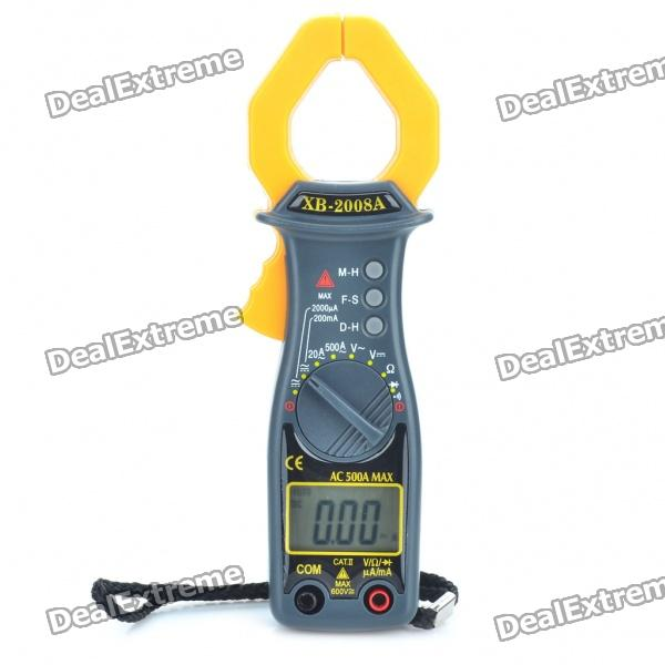 XB-2008A 1.4 LCD Handheld Digital Clamp Multimeter (2 x AAA) multimeter test leads probe cables 90cm
