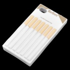 Creative Cigarette Style Silicone Protective Back Case for iPhone 4 - White