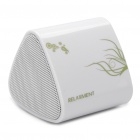 Mini Rechargeable Wireless Speaker w/ Transmitter - White