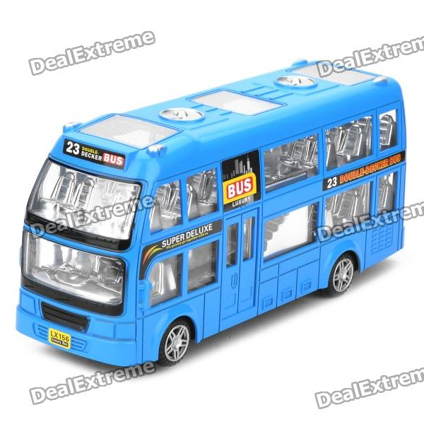 Double-decker Bus Toy with Light & Sound Effects (3 x AA) cool intellectual development diy toy car black blue 2 aa