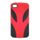 Coolous Alien Style Protective Silicon Case for iPhone 4/4S (Black + Red)