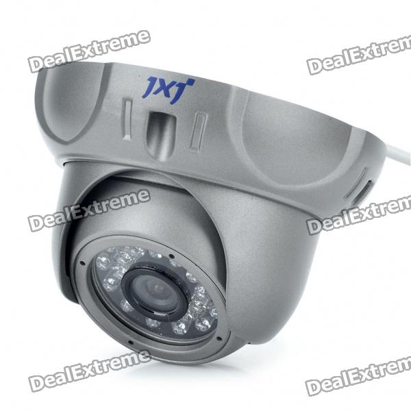 Anti-Explosion Fixed Focus 1/3 CCD Security Camera w/ 24-LED IR Night Vision (6mm Lens)