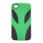 Coolous Alien Style Protective Silicon Case for iPhone 4/4S (Green + Black)
